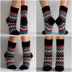 Yin Yang, Knitting Socks, Knit Crochet, Slippers, Footwear, Pattern, Diy, Fashion, Knits