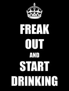 freak out and start drinking - Acrylic Key Ring - http://robsemporium.com/product/freak-out-and-start-drinking-acrylic-key-ring/