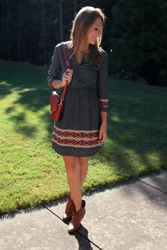 Collective Concepts Willa Dress (Kept): Any dress like this is a friend of mine! The print, the fit, the style, the length, the everything is perfect for me. All I need now is the perfect little brown belt to wear with this- hint hint to my stylist Lauren!