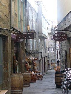 Rua dos Cesteiros in historic centre Vigo