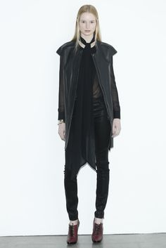 looks like black leather's never going out of style. J Brand RTW Fall 2013 via WWD