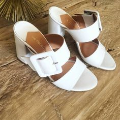 White mules by She Collection Slip On, Sandals, Shoes, Collection, Fashion, Moda, Shoes Sandals, Zapatos, Shoes Outlet