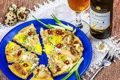 Pizza Dukan la microunde cu oua de prepelita Vegetable Pizza, Quiche, Vegetables, Breakfast, Recipes, Dukan Diet, Morning Coffee, Recipies, Quiches