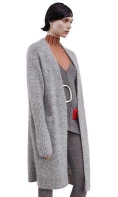 Acne Studios Women Sweaters Husky Grey Raya Oversized