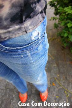 como desgastar jeans