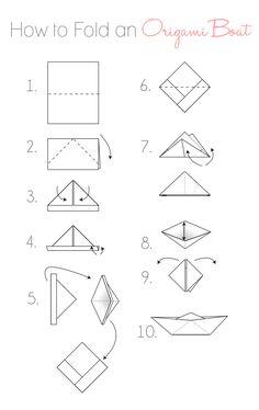 dekorieren mit papier hier ist die einfache falt anleitung f r origami schiffchen falten. Black Bedroom Furniture Sets. Home Design Ideas