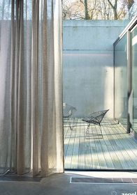 In olden days, folks weren't giving a lot significance to curtains and have been utilizing heavy drapes as curtains. However, now, folks have realized White Cotton Curtains, Curtain Wire, Window Treatments, Modern Design, Sweet Home, Garage, Architecture, Studio, Interior
