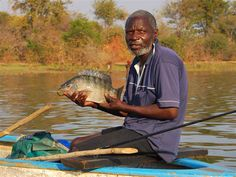 Fisherman, lake Kariba