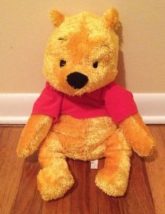 Winnie The Pooh Plush Disney Soft Shaggy 18-Inch Stuffed Animals Kids #Disney