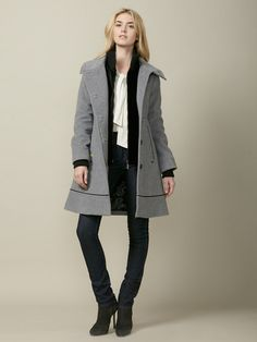 Nikki Contrast Wool Coat by Soia & Kyo on Gilt.com