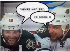 Zucks and Stewie Funny Sports Memes, Sports Humor, Funny Hockey, Wild Hockey, Wild North, Minnesota Wild, Nhl, Vikings, Funny Things