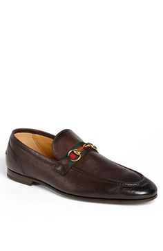 Free shipping and returns on Gucci 'Elanor' Bit Loafer (Men) at Nordstrom.com. Signature webbing adds a pop of color to a bold Italian loafer topped with a handsome metal bridle bit.