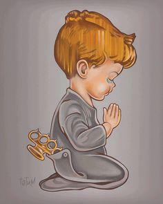 boy with brass knucks by TatumOriginals via Etsy.