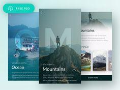 Free Travel App by Apolonia Podleszka Design Thinking, Motion Design, Hotel App, Web Design, Graphic Design, Flat Design, Android App Design, Mobile Ui Design, User Experience Design