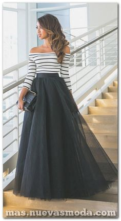 Tulle Dress Tutu Off Shoulder Evening Dresses Long Ball Gowns Sexy Black White … – Casual Dress Outfits Cute Maxi Skirts, Maxi Skirt Outfits, Dress Skirt, Dress Up, Midi Skirts, Tulle Dress, Maxi Skirt Formal, Long Skirts, Dress Long