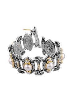 Sterling Silver 18k Gold Bracelet Style Number Bkj216 122 Konstantino Jewelry