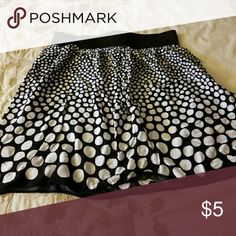 Handmade black and white short skirt My mom made this for me a few years ago and my style has changed! Skirts Circle & Skater