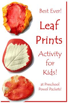 Awesome Leaf Prints Activity!   Preschool Powol Packets