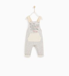 JUMPSUIT WITH STRAPS AND SLOGAN-SKIRTS AND TROUSERS-BABY GIRL | 3 months - 4 years-KIDS | ZARA United States
