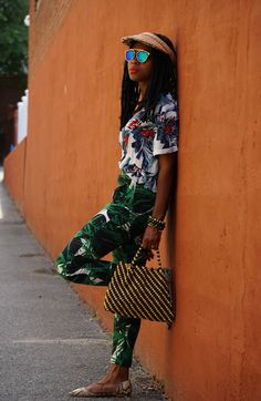 caribbeancowgirl | fashion blogger | street style inspiration | tropical prints