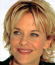 Meg Ryan - Waaay back in the day when she was actually cute - BEFORE all the tragic plastic surgeries.