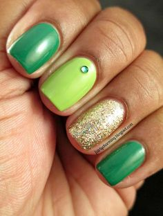Fotos de uñas color verde – 45 Ejemplos | Green Nails #green #nails  #nailart