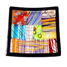 Patchwork Squared Trinket Tray - Large