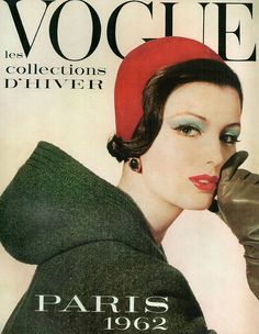 Dorothea McGowan in Christian Dior couture, Paris Vogue cover by Irving Penn, September 1961 earlier fashion Vogue Magazine Covers, Fashion Magazine Cover, Fashion Cover, 1960s Fashion, Vogue Fashion, Vintage Fashion, Steampunk Fashion, Gothic Fashion, Trendy Fashion