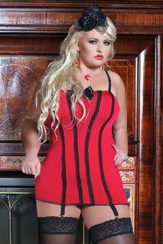 Miss Naughty 15 DENARI Plain Top calze Plus Size