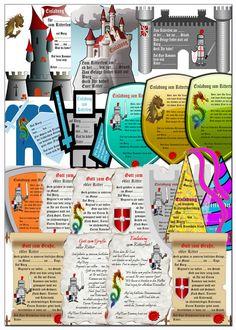 Ritterfest Kindergeburtstag Einladungen kostenlos downloaden http://www.kindergeburtstagplanen.com/kindergeburtstagseinladungen-ritterfest