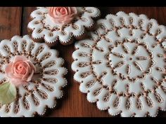 Video Release: How to Make Eyelet Lace Doily Cookies | Julia Usher | Recipes for a Sweet Life