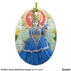 Goddess Durga NavDurga Images Ceramic Ornament