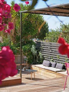 °° Petit bassin à Marseille °° - °°lejardindeclaire°° Pergola, Landscape Design, Construction, Patio, Terraces, Provence, Outdoor Decor, Home Decor, Narrow Staircase