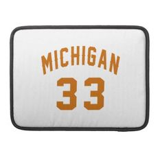 #Michigan 33 Birthday Designs Sleeve For MacBook Pro - #giftidea #gift #present #idea #number #33 #thirty-third #thirty #thirtythird #bday #birthday #33rdbirthday #party #anniversary #33rd