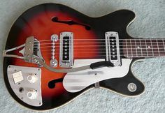 Teisco EP 2L Japan Vintage Guitar 1960's Full Hollow Body Guitar