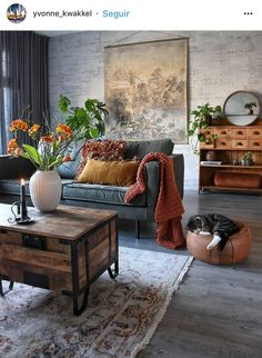 48 Stunning Spring Living Room Decor Ideas To Refresh Your Mind. 48 Stunning Spring Living Room Decor Ideas To Refresh Your Mind. The living room is the spot in our homes where we invested our energy for sitting in front of the […] Eclectic Living Room, Home Living Room, Apartment Living, Living Room Designs, Living Room Furniture, Eclectic Decor, Industrial Living Rooms, Warm Colours Living Room, Midcentury Modern Living Room