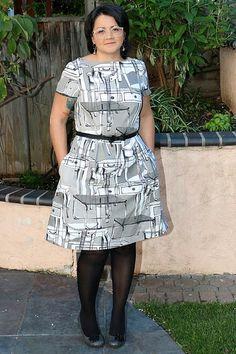 Peony Dress by Luana. See more at http://sweetsandyarns.com/peony-dress/ #sewing