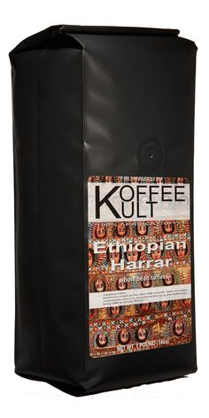Koffee Kult Ethiopian Harrar Coffee. cupping notes: blueberry notes at the start with smooth, dark chocolate undertones
