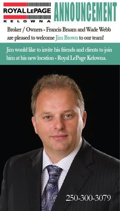 Royal LePage Kelowna: Welcome to the team Jim