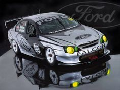"""Gibson Motorsport 00 Racing """"Green Eyed Monster AU Falcon XR8 V8 Supercar Raced By Craig Lowndes"""
