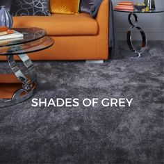Grey carpets are a popular colour choice. Why not match grey carpets with neutral,