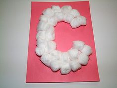 C is for Cotton Balls.