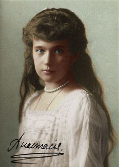 An autographed photograph of Grand Duchess Anastasia.