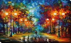 End of Winter by Leonid Afremov Painting Print on Wrapped Canvas