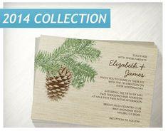 Vintage Pine Cone Wedding Invitations  Invites  by InvitationSnob, $21.50