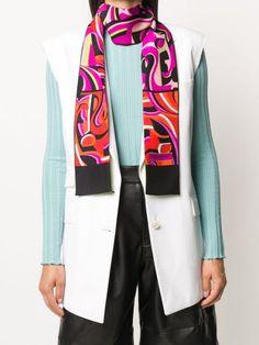 Emilio Pucci x Koché Printed Silk Scarf - Farfetch Printed Silk, Emilio Pucci, Accessories Shop, Blazer, Coat, Prints, Jackets, Shopping, Women