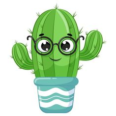 Kaktus Illustration, Cactus Clipart, Clipart Png, Cartoon Cupcakes, Cactus Cartoon, Cactus Drawing, Imagenes My Little Pony, Weird Pictures, Cool Fonts