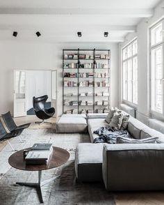 Apartment Goals? :: Get the look with the Hay Mags Soft Modular Sofa Fritz Hansen Egg Chair :: @claus_brechenmacher
