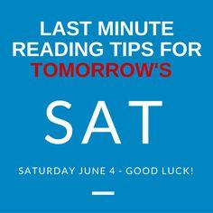 Certain Tips for SAT ..?