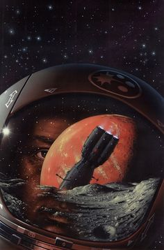 OF TIME AND STARS    Cover for book by: Arthur C. Clarke  Original size: 327 x 496mm
